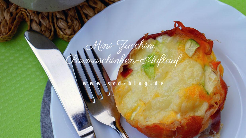 Mini-Zucchini-Parmaschinken-Auflauf