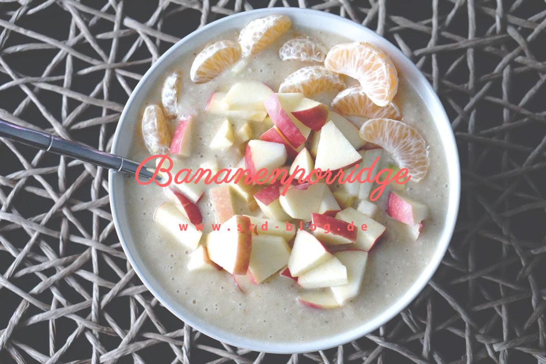 Kaltes Bananenporridge