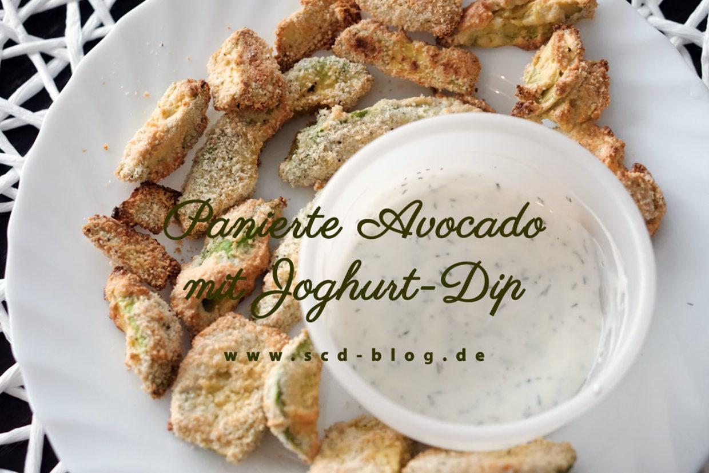 Panierte Avocado mit Joghurt-Dip