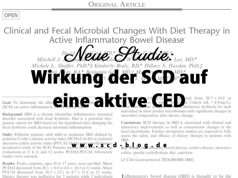 Neue Studie zur Wirkung der SCD auf eine aktive chronisch-entzündliche Darmerkrankung