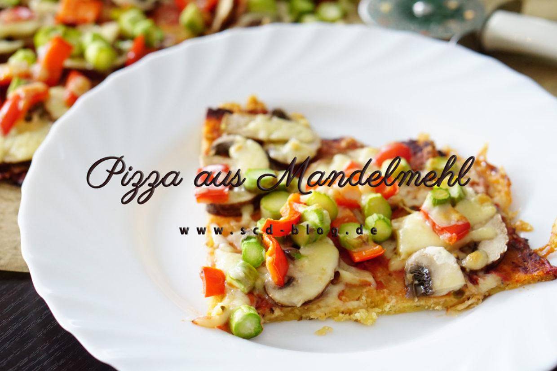 Pizza aus Mandelmehl
