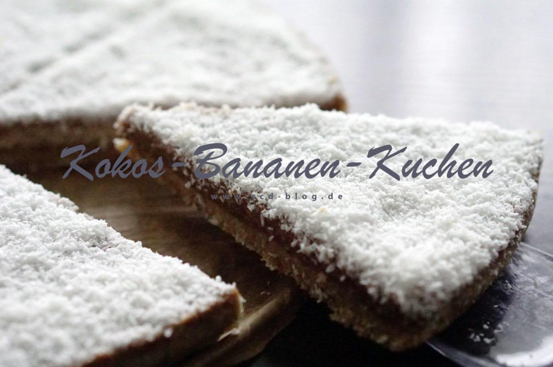 Kokos-Bananen-Kuchen (Raw Cake)