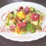 Sommerlicher Rote Beete Avocado Salat